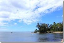 やっぱりお天気が今ひとつのハレイワビーチ