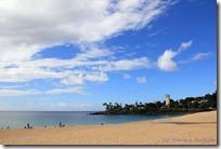 ちょっと陽の陰ったワイメアビーチ