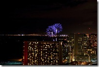 屋上から見た花火