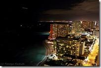 屋上から見た街の夜景