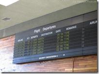 ターミナル内の出発ボード。 最後です^_^;