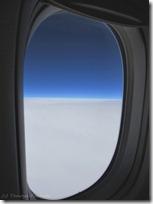 機窓からみた雲海