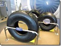 大空ミュージアムにあった飛行機のタイヤ