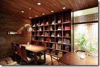 北菓楼の喫茶コーナー。 大人の隠れ家?的デザイン♪